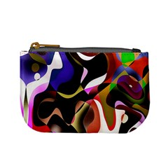 Colourful Abstract Background Design Mini Coin Purses by Simbadda
