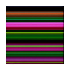 Multi Colored Stripes Background Wallpaper Tile Coasters by Simbadda
