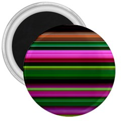 Multi Colored Stripes Background Wallpaper 3  Magnets