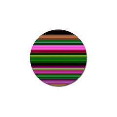 Multi Colored Stripes Background Wallpaper Golf Ball Marker by Simbadda