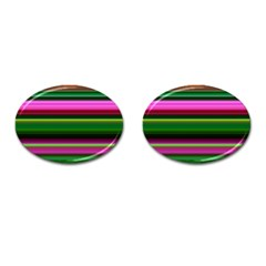 Multi Colored Stripes Background Wallpaper Cufflinks (oval) by Simbadda