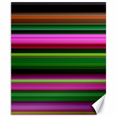 Multi Colored Stripes Background Wallpaper Canvas 8  X 10  by Simbadda