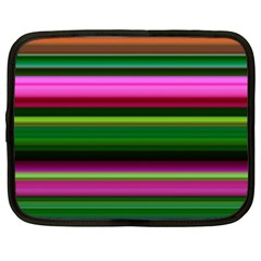 Multi Colored Stripes Background Wallpaper Netbook Case (xxl)  by Simbadda