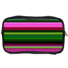Multi Colored Stripes Background Wallpaper Toiletries Bags 2 Side by Simbadda