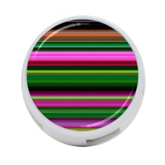 Multi Colored Stripes Background Wallpaper 4 Port Usb Hub (two Sides)  by Simbadda