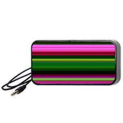 Multi Colored Stripes Background Wallpaper Portable Speaker (black) by Simbadda
