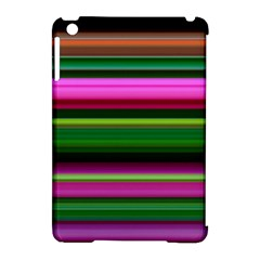 Multi Colored Stripes Background Wallpaper Apple Ipad Mini Hardshell Case (compatible With Smart Cover) by Simbadda