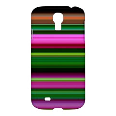 Multi Colored Stripes Background Wallpaper Samsung Galaxy S4 I9500/i9505 Hardshell Case by Simbadda