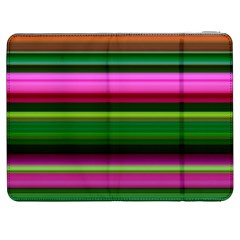 Multi Colored Stripes Background Wallpaper Samsung Galaxy Tab 7  P1000 Flip Case by Simbadda