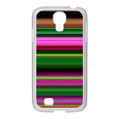 Multi Colored Stripes Background Wallpaper Samsung Galaxy S4 I9500/ I9505 Case (white) by Simbadda