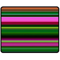 Multi Colored Stripes Background Wallpaper Double Sided Fleece Blanket (medium)