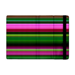 Multi Colored Stripes Background Wallpaper Ipad Mini 2 Flip Cases by Simbadda