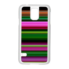 Multi Colored Stripes Background Wallpaper Samsung Galaxy S5 Case (white) by Simbadda