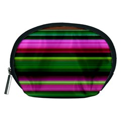 Multi Colored Stripes Background Wallpaper Accessory Pouches (medium)  by Simbadda