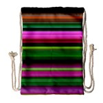 Multi Colored Stripes Background Wallpaper Drawstring Bag (Large) Front