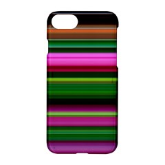 Multi Colored Stripes Background Wallpaper Apple Iphone 7 Hardshell Case by Simbadda