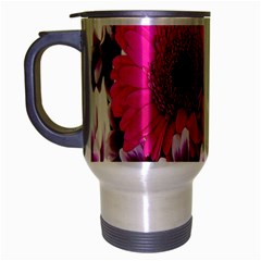Pink Purple And White Flower Bouquet Travel Mug (silver Gray) by Simbadda