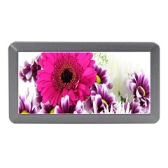 Pink Purple And White Flower Bouquet Memory Card Reader (mini) by Simbadda