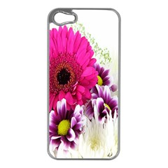 Pink Purple And White Flower Bouquet Apple Iphone 5 Case (silver)
