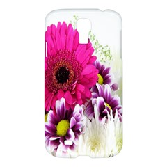 Pink Purple And White Flower Bouquet Samsung Galaxy S4 I9500/i9505 Hardshell Case by Simbadda