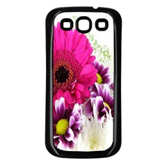 Pink Purple And White Flower Bouquet Samsung Galaxy S3 Back Case (black) by Simbadda