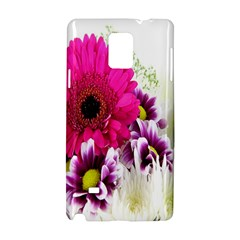 Pink Purple And White Flower Bouquet Samsung Galaxy Note 4 Hardshell Case by Simbadda