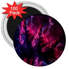 Abstract Fractal Background Wallpaper 3  Magnets (100 Pack) by Simbadda