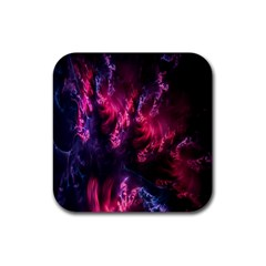 Abstract Fractal Background Wallpaper Rubber Square Coaster (4 Pack)  by Simbadda