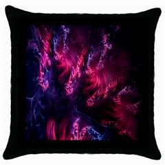 Abstract Fractal Background Wallpaper Throw Pillow Case (black)