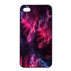Abstract Fractal Background Wallpaper Apple Iphone 4/4s Seamless Case (black) by Simbadda