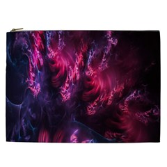 Abstract Fractal Background Wallpaper Cosmetic Bag (xxl)
