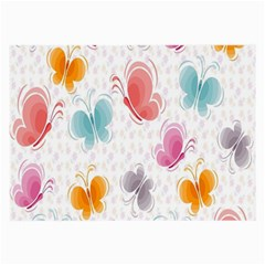 Butterfly Pattern Vector Art Wallpaper Large Glasses Cloth (2 Side) by Simbadda
