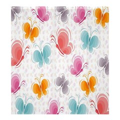 Butterfly Pattern Vector Art Wallpaper Shower Curtain 66  X 72  (large)  by Simbadda