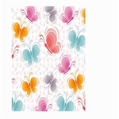 Butterfly Pattern Vector Art Wallpaper Large Garden Flag (two Sides) by Simbadda