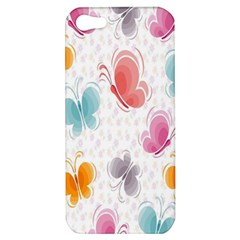 Butterfly Pattern Vector Art Wallpaper Apple Iphone 5 Hardshell Case