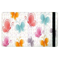 Butterfly Pattern Vector Art Wallpaper Apple Ipad 3/4 Flip Case by Simbadda
