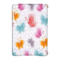 Butterfly Pattern Vector Art Wallpaper Apple Ipad Mini Hardshell Case (compatible With Smart Cover) by Simbadda