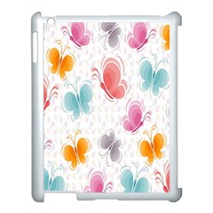 Butterfly Pattern Vector Art Wallpaper Apple Ipad 3/4 Case (white) by Simbadda