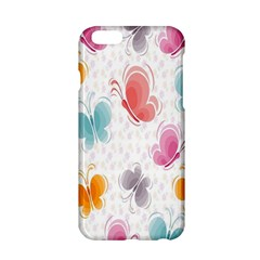 Butterfly Pattern Vector Art Wallpaper Apple Iphone 6/6s Hardshell Case by Simbadda