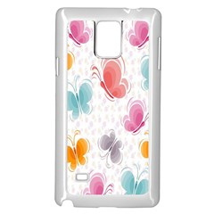 Butterfly Pattern Vector Art Wallpaper Samsung Galaxy Note 4 Case (white)