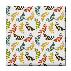 Colorful Leaves Seamless Wallpaper Pattern Background Tile Coasters