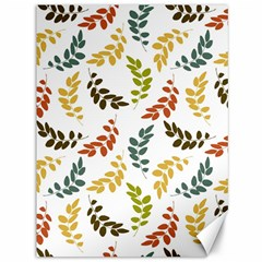 Colorful Leaves Seamless Wallpaper Pattern Background Canvas 36  X 48   by Simbadda