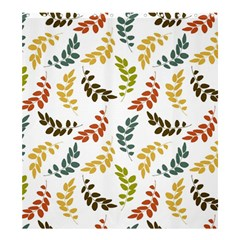 Colorful Leaves Seamless Wallpaper Pattern Background Shower Curtain 66  X 72  (large)  by Simbadda
