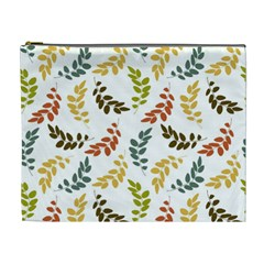 Colorful Leaves Seamless Wallpaper Pattern Background Cosmetic Bag (xl) by Simbadda