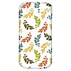 Colorful Leaves Seamless Wallpaper Pattern Background Samsung Galaxy S3 S Iii Classic Hardshell Back Case by Simbadda