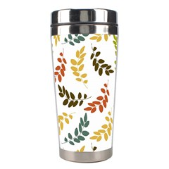 Colorful Leaves Seamless Wallpaper Pattern Background Stainless Steel Travel Tumblers