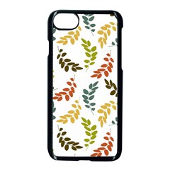 Colorful Leaves Seamless Wallpaper Pattern Background Apple Iphone 7 Seamless Case (black) by Simbadda