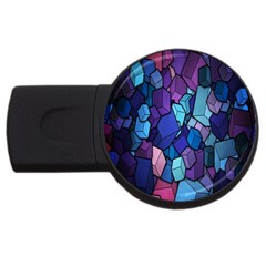 Cubes Vector Art Background Usb Flash Drive Round (4 Gb) by Simbadda