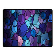 Cubes Vector Art Background Fleece Blanket (small) by Simbadda