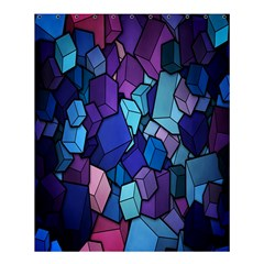 Cubes Vector Art Background Shower Curtain 60  X 72  (medium)  by Simbadda